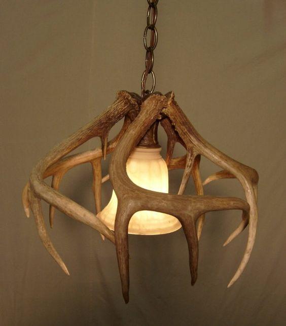 light fixtures light shades horns deer antlers pendants etsy. Black Bedroom Furniture Sets. Home Design Ideas