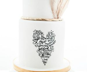 Love Text Heart Wedding Cake | Wedding Cakes | Beautiful Cake Pictures