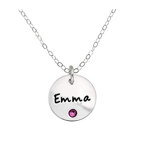 Round Pendant Personalized Photo Necklace Custom Jewelry Womens Necklace