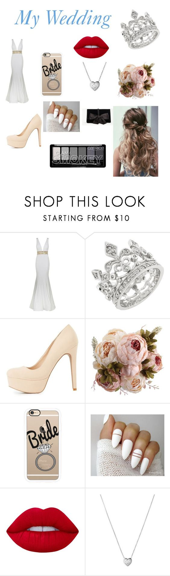 """""""My Wedding"""" by gorgeousnicki ❤ liked on Polyvore featuring Jovani, Charlotte Russe, Casetify, Lime Crime, Links of London and Ann Taylor"""