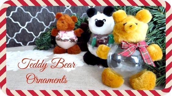 DIY Teddy Bear Ornaments (JustMeRache) #guest411momma