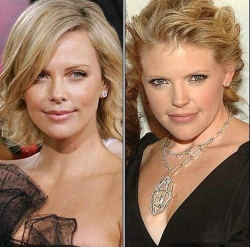 Charlize Theron and Natalie Maines