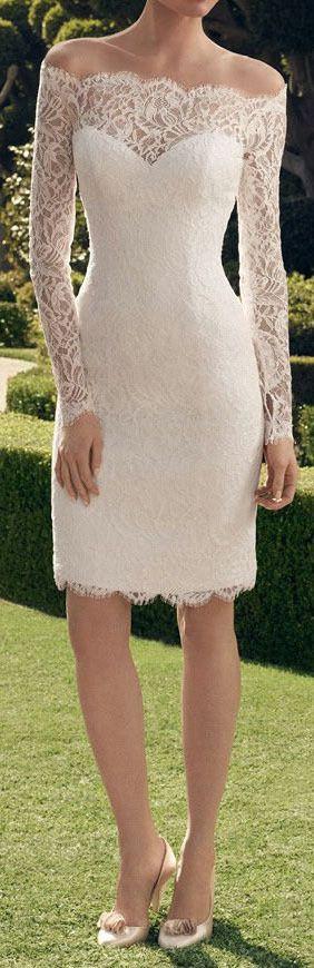 Ivory Lace Short Wedding Dress