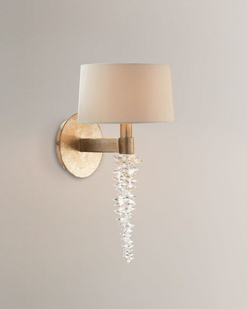John Richard Collection Cascading Crystal Waterfall 14 Sconce 210 Shipping Is Free Hamptons Home Gallery Hampton Sconces Crystal Sconce Tabletop Fountain