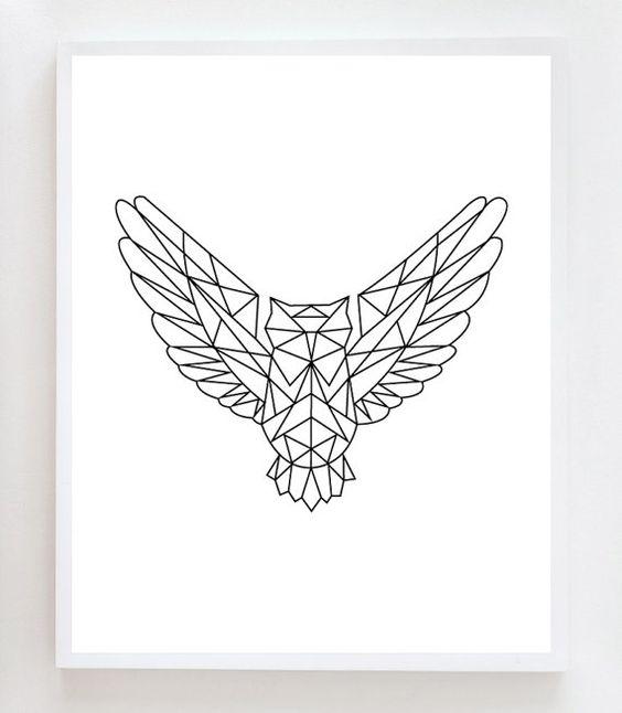 geometrisch eule diy pinterest tattoo ideen geometrische tattoos und tiere. Black Bedroom Furniture Sets. Home Design Ideas