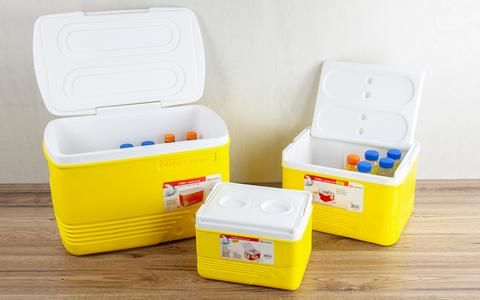 Cooler Box Set 5pc Ice Chest Camping Picnic Insulated Food Containers Yellow