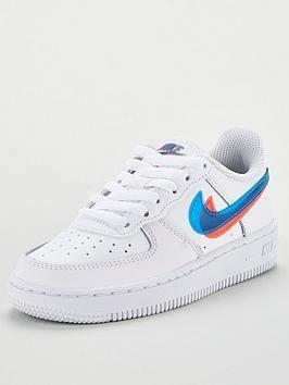 Force 1 Lv8 Ksa Childrens Trainers White Blue Red Nike Nike