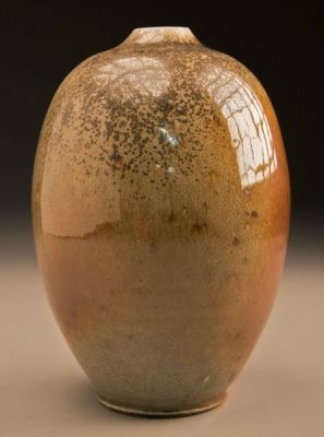 Egg Vase in Copper Penny Glaze by Ben Owen.