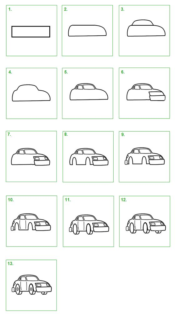 how to draw a auto