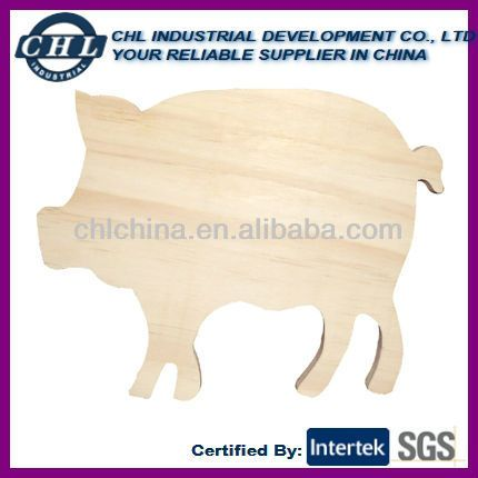 Pig Shape Wooden Cutting Board $0.3~$0.45
