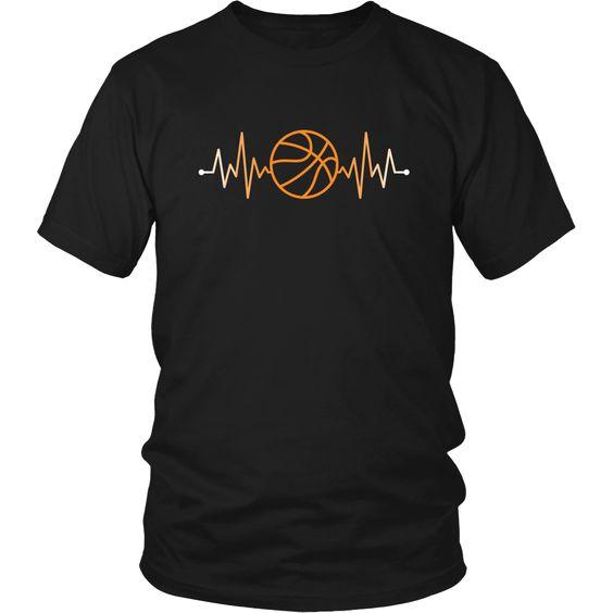 Sport T Shirt Basketball Rhythm Basketball Pulse T