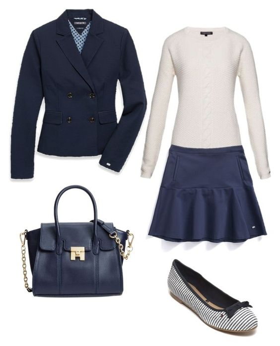 """Preppy"" by thisbrunettestyle ❤ liked on Polyvore featuring Tommy Hilfiger"