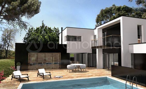 Maison Noé - Plan de maison Moderne réalisé par les architectes ...