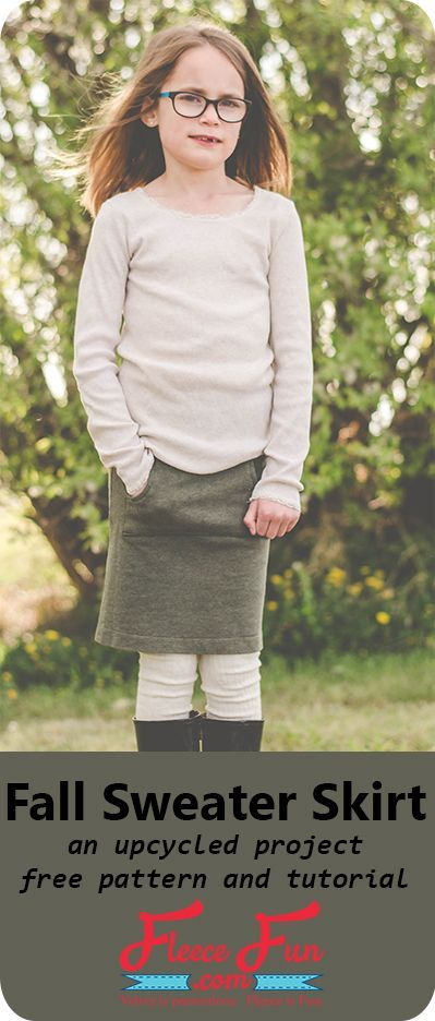 I love this upcycled skirt sewing tutorial!  This looks perfect for fall and a great way to save money on back to school clothing.  This would look so cute with leggings and a great way to keep warm and still be stylish.  This is a great DIY idea for my l