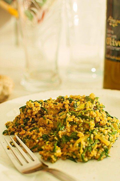 Couscous mit Zucchini, Kichererbsen und Blattspinat (Rezept mit Bild) | Chefkoch.de
