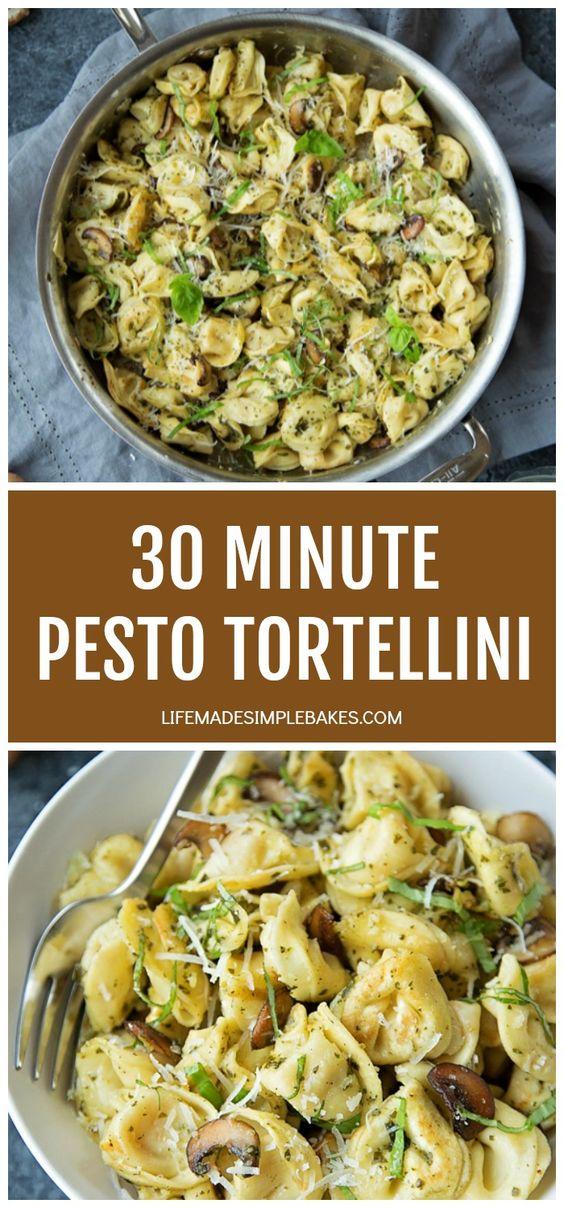 30 Minute Pesto Tortellini