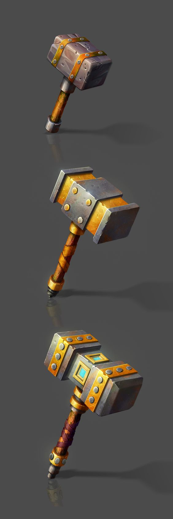 Props on Behance #weapon #design #hammer