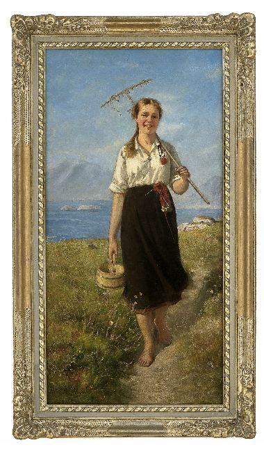 Hans Dahl, oil
