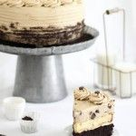 Looking to satisfy your sweet tooth in a new way? This Chocolate Chip Cookie Dough Cake by Something Shiny is the best of both worlds. Who can resist a yellow cake, buttercream icing, and chocolate chip cookies? Well, not me, that's for sure! Take a peek at how she popped some dough bites into cute cupcakes as well. What a sweet surprise for your unassuming sweet tooth!  Photo by: Something Shiny  You might also like:Milk and Chocolate Chip Cookie CupcakesInvisible Cookie Dough Ice…