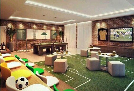 Inspiração ♡ #interiores #design #interiordesign #decor #decoração #decorlovers #archilovers #inspiration #ideias #saladejogos #gamesroom