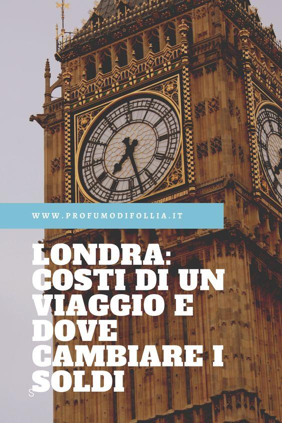 Quanto costa un viaggio a Londra: immagine Pinterest