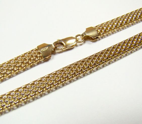 TUBE 6.mm chain gold plated  chain  sterling silver by DawidPandel, zł109.00