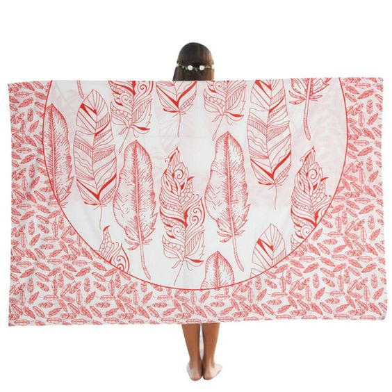 2016 New Summer Large Microfiber Printed Round Beach Pool Home Shower Beach Towel Serviette De Plage Free shipping Yoga Mat