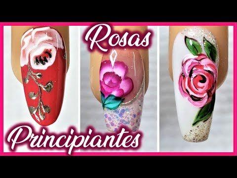 Como Hacer Rosas En Las Unas