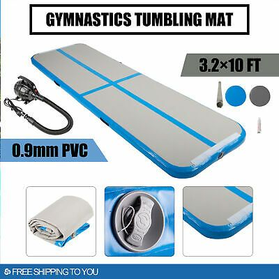 Ad Ebay Air Track Mat Floor Inflatable Gymnastics Tumbling Mat Gym 10ft W Pump Gymnastics Tumbling Mat Tumble Mats Gymnastics