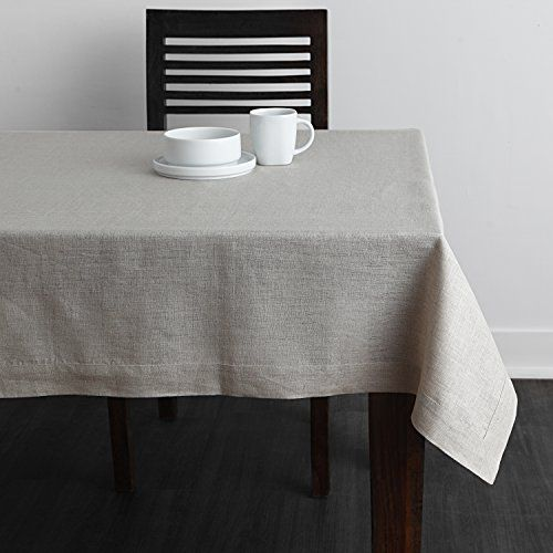 Solino Home 100 Linen Tablecloth 60 X 144 Inch Natural Natural Fabric European Flax At In 2020 Table Cloth Natural Tablecloths Rectangular Table