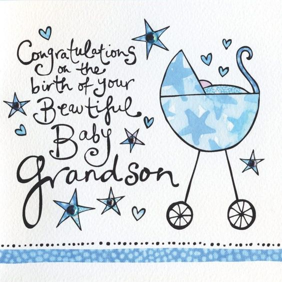 Congratulations On The Birth Of Your Grandson Card - Grandparents ...: