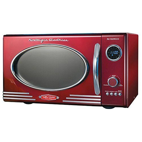 Adds A Nostalgic Touch To Your Kitchen Retro Microwave Oven Dimensions 19 Inches Long X 14 Inches Wide X 11 Inches High Nostalgia Electrics Retro Retro Appliances Nostalgia Electrics
