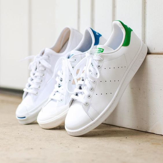 Crispy clean. (left to right) @converse Jack Purcell @newbalance Pro Court @adidasoriginals Stan Smith by matthewgraber