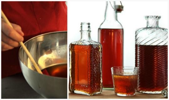 Homemade amaretto. Will be doing this for Christmas this year as well as making my grandmother's homemade Bailey's!