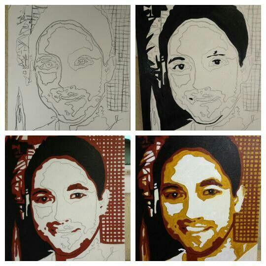 Paint face 3D. Retrato de Técio Lima Gomes.