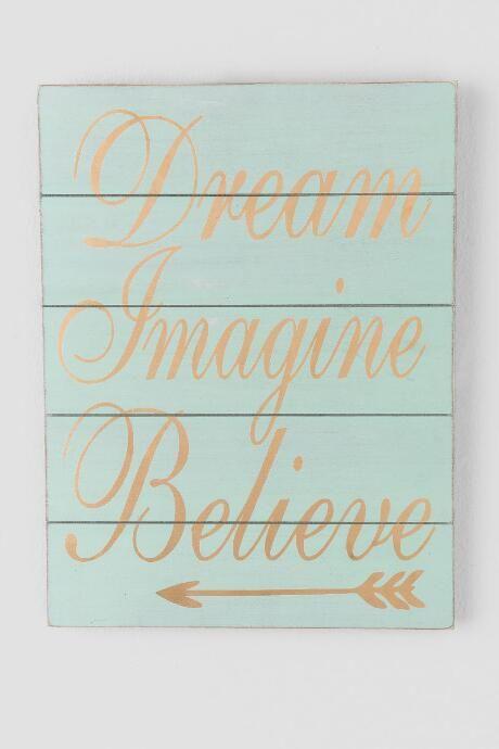 Mint And Gold Dream Arrow Wood Wall Decor $12.99 $18.00