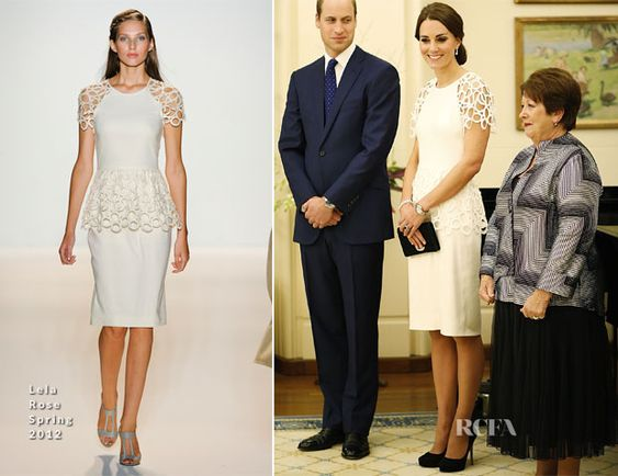 Catherine, Duchess of Cambridge In Lela Rose - Governor General Peter Cosgrove Reception - Red Carpet Fashion Awards