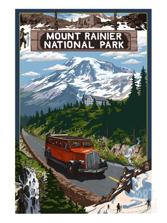 Mount Rainier National Park Print at Art.com