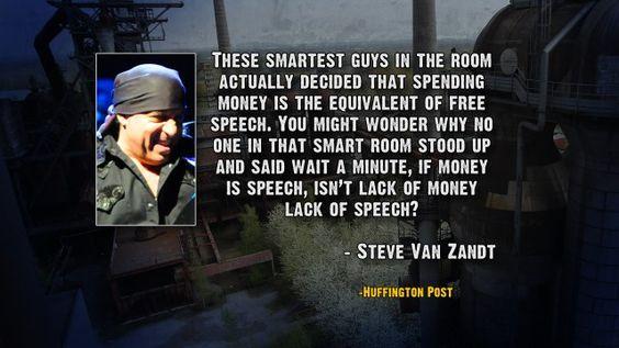 Steve Van Zandt from Bruce Springsteen's E-Street Band on Citizens United