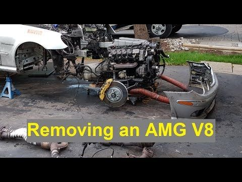 Removing an E55 AMG Engine on the Drive Way - YouTube