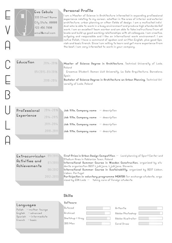 ... Gallery Of The Top Architecture Résumé\/CV Designs   2 Cv Design   Urban  ...  Urban Planning Resume