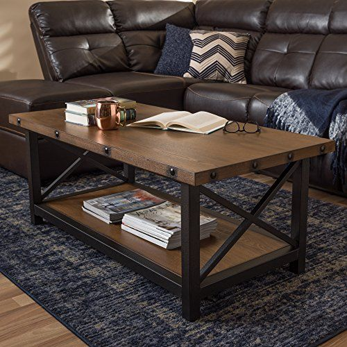Baxton Studio Coffee Table In Black And Brown Metallicheskaya