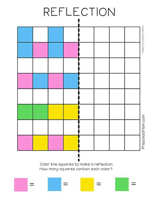 Symmetry Worksheets Preschool Mom Reflection Math Symmetry Worksheets Math Worksheets