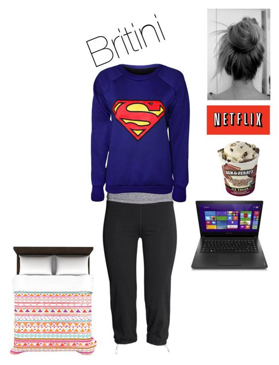 """At home sick"" by rainbow22xd ❤ liked on Polyvore featuring H&M, WearAll, Kess InHouse and Lenovo"