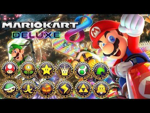 Mario Kart 8 Deluxe All Tracks 200cc Full Race Gameplay Youtube Mario Kart Mario Kart 8 Mario