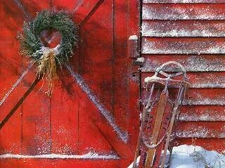 "There's just something about ""barn red"" that evokes joy!"