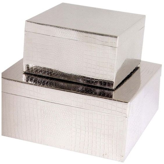 Eichholtz Emma Jewel Box Set Of 2 ($500) ❤ liked on Polyvore