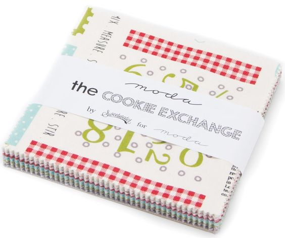 """From the fabric collection 'The Cookie Exchange' designed by Sweetwater for Moda Fabrics... each charm pack includes 42 - 5"""" squares of fabric..."""