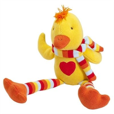 """Knit Ducky Toy. 15"""""""
