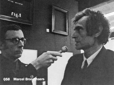 Jef Cornelis ondervraagt Marcel Broodthaers